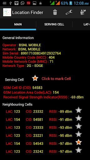 Location Finder and GSM mapper