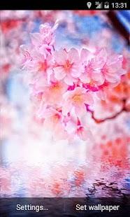 Pink Flowering Live Wallpaper - screenshot thumbnail