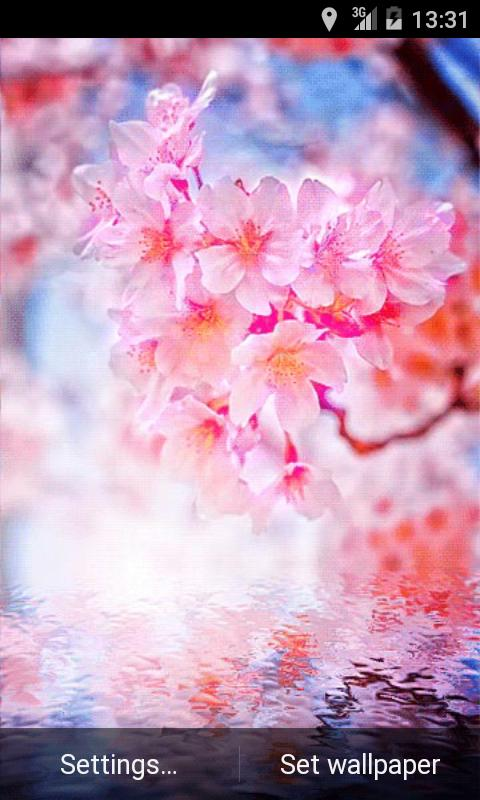 Pink Flowering Live Wallpaper - screenshot