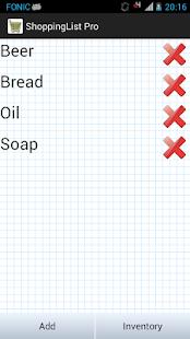 Shopping List Pro- screenshot thumbnail