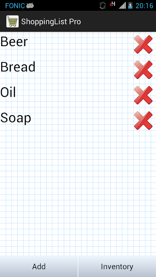 Shopping List Pro- screenshot
