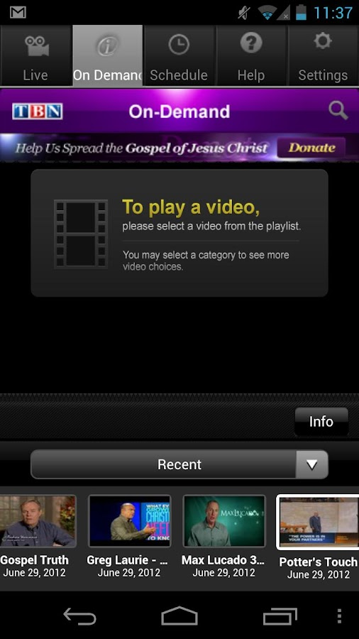TBN: Watch TV Shows & Live TV - screenshot