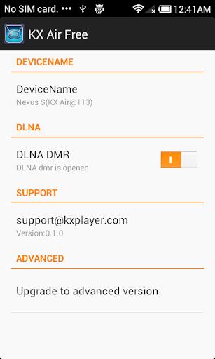 KX Air free : DLNA Receiver