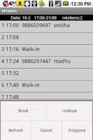 Screenshot of mtoken -Automated Receptionist