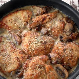 mushroom Asiago chicken.