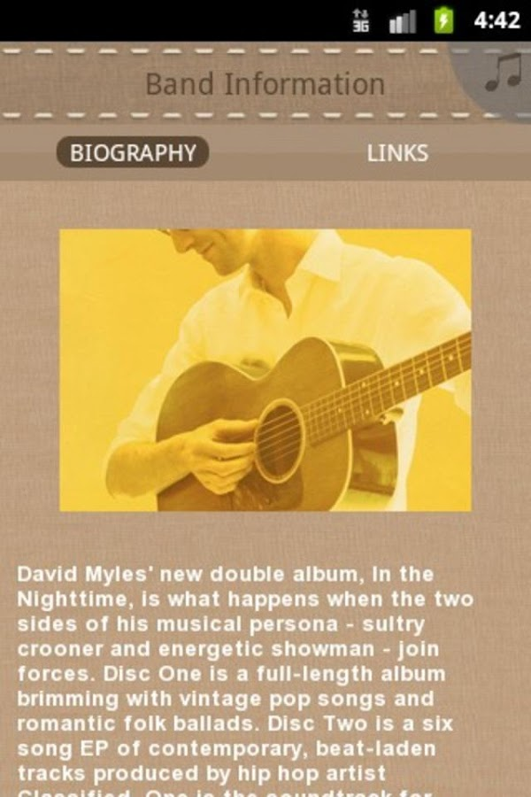 David Myles - screenshot