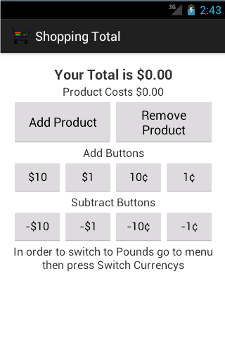 Budget - Shopping Calculator