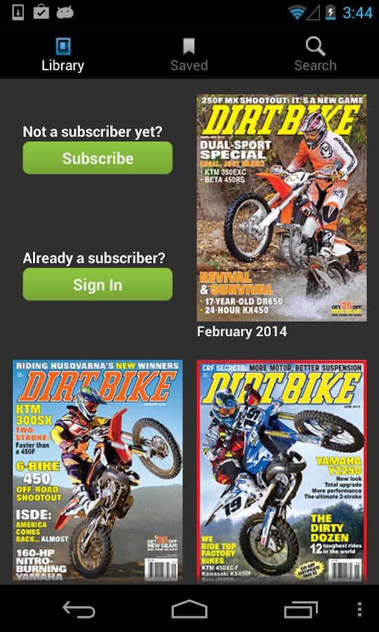 DIRT BIKE MAGAZINE- screenshot