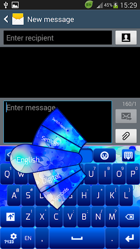 简单的蓝色键盘
