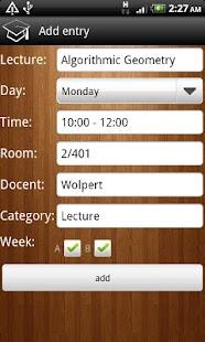 Timetabler Class Schedule - screenshot thumbnail