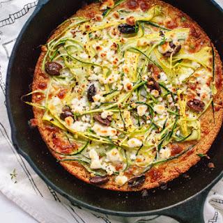 Socca Pizza with Summer Squash and Feta Recipe