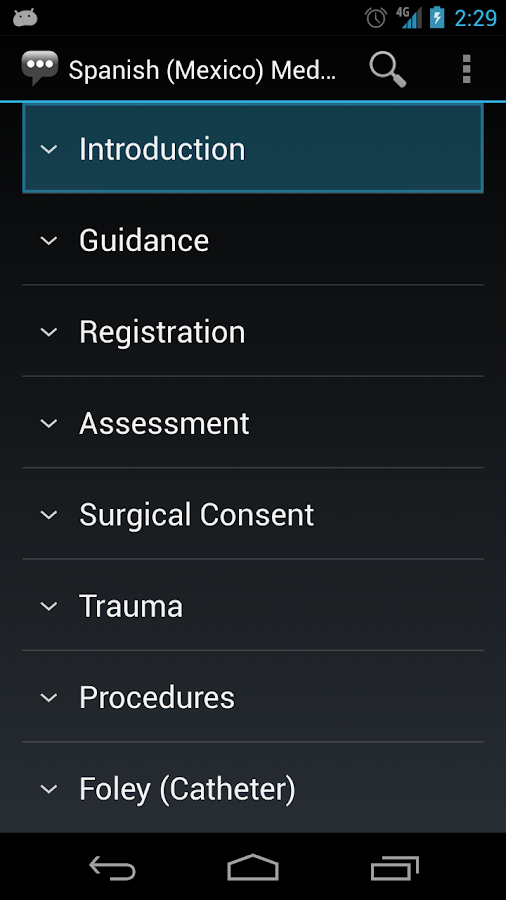 Spanish (Mexico) Medical Phrases - Works offline- screenshot