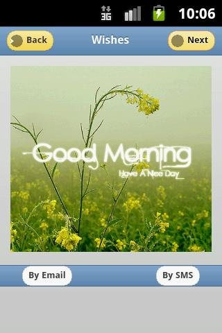 Good Morning Greeting Cards - screenshot