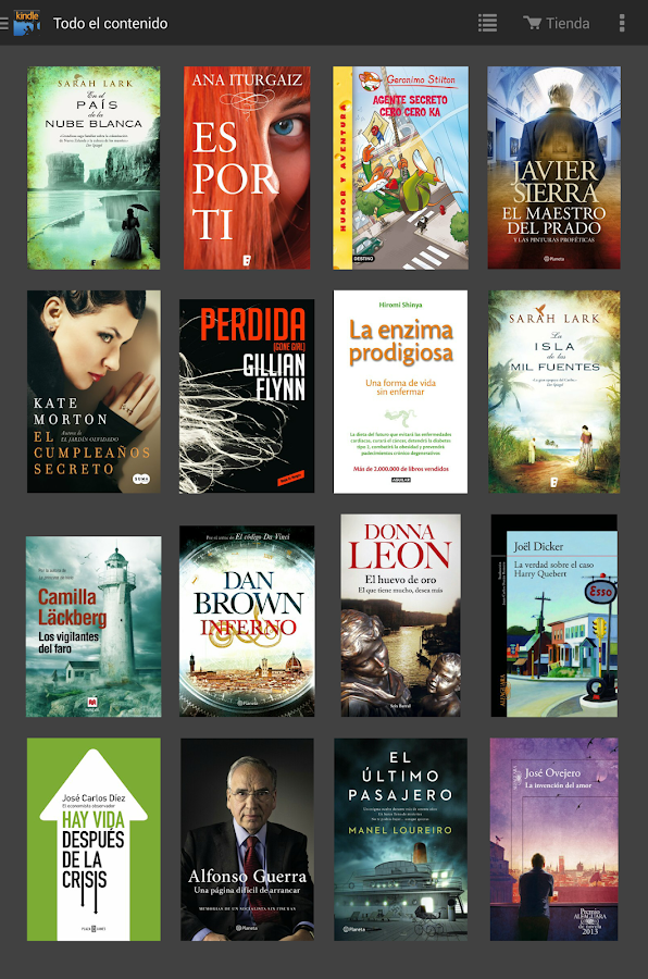 Kindle: captura de pantalla