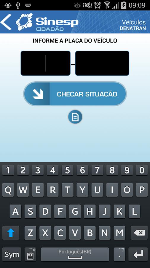 Sinesp Cidadão- screenshot