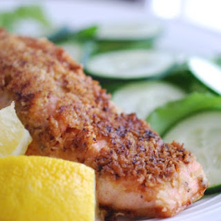 Mustard & Panko Crusted Salmon Fillets