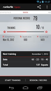 Runtastic Squats Workout PRO Screenshot