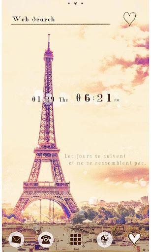 かわいい壁紙・アイコン-Paris sky-無料きせかえ