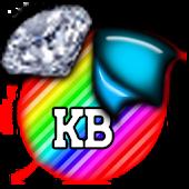 KB SKIN -RainbowDiamondStripes
