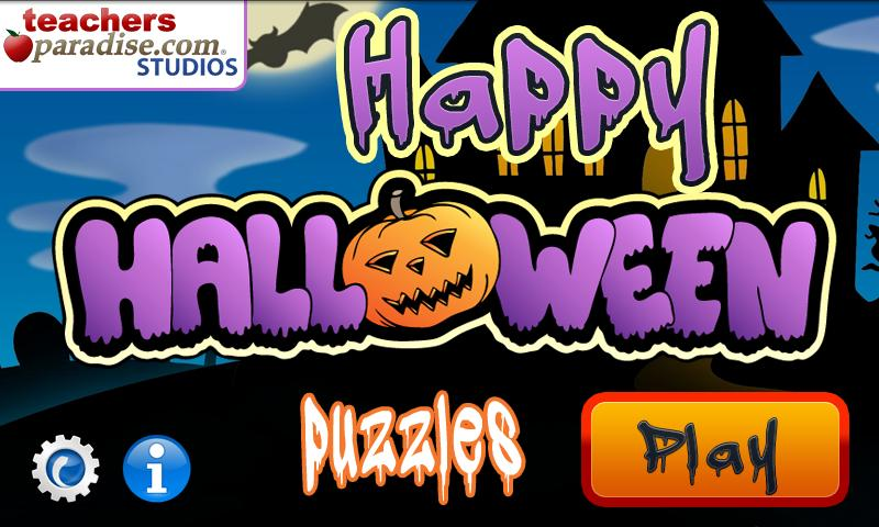 Happy Halloween Shape Puzzles - screenshot