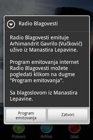 Radio Blagovesti- screenshot