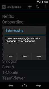 Safe Keeping- screenshot thumbnail