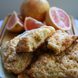 Grapefruit Scones with Zesty Sugar Topping