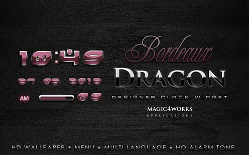 digital clock bordeaux dragon
