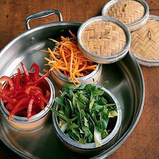Steamed Vegetables with Rice-Wine Vinaigrette