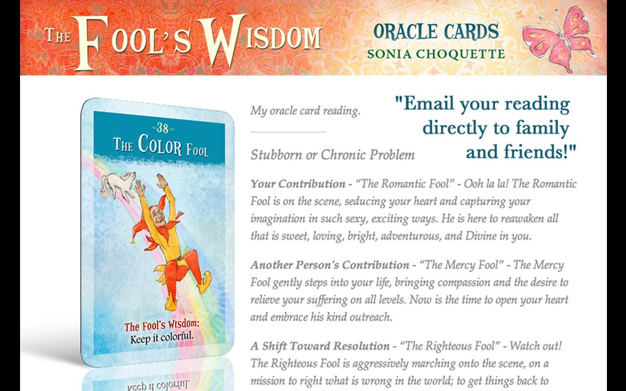 The Fool's Wisdom Oracle Cards - screenshot