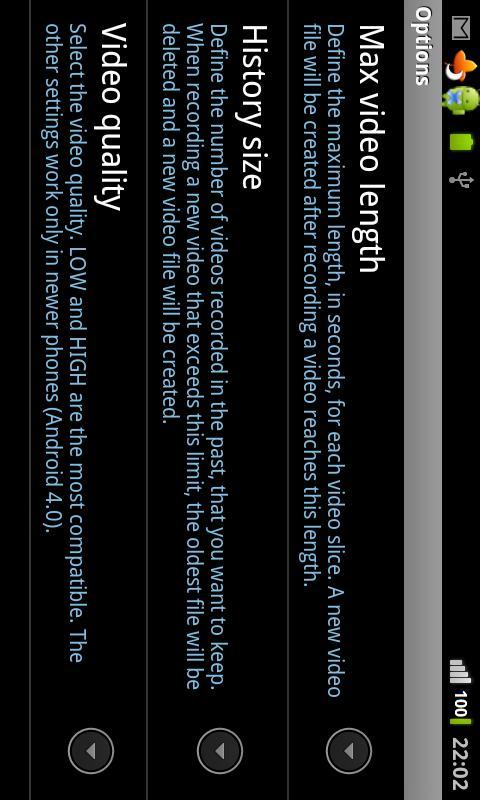 Omnis DashCam- screenshot