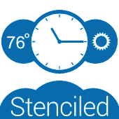 Stenciled Clock (UCCW Skin)