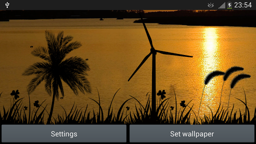【免費個人化App】夕陽風車動態壁紙-APP點子