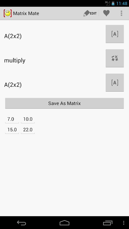 Matrix Mate (Calculator)- screenshot