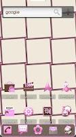 Screenshot of MissDroid PrettyPink ADW Theme