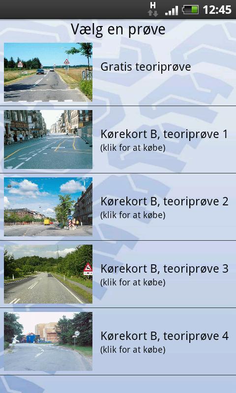 Teoriprøven til motorcykel- screenshot