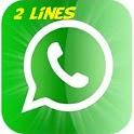 2 lineas para whatsapp 2lines icon