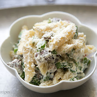 Penne with Ricotta and Asparagus.
