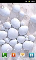 Screenshot of White Pebble Live Wallpaper