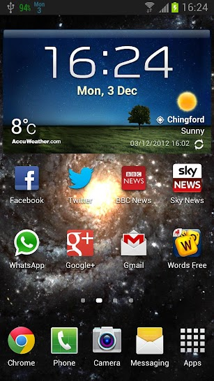 Date In Status Bar HD Pro screenshot for Android