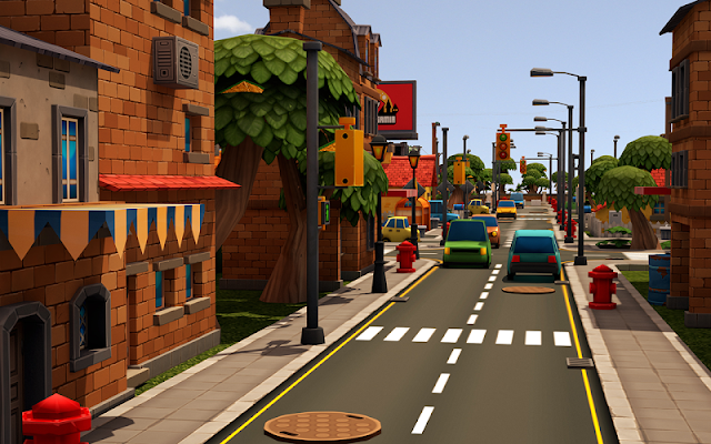 Toon 3D Parking Delivery Dash - screenshot