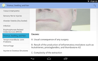 Screenshot of Oral Surgery Complications
