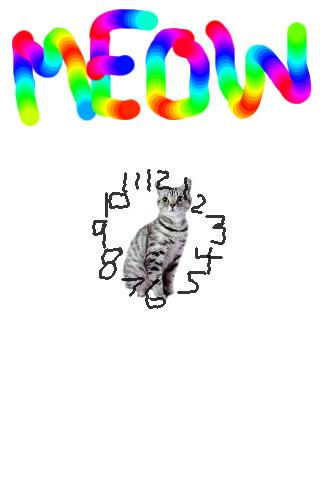 Cat Clock Meow! Widget! - screenshot