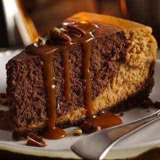 Chocolate Bourbon Pumpkin Cheesecake.