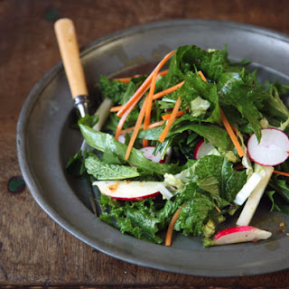 Mixed Green Salad with Sichuan Peppercorns.