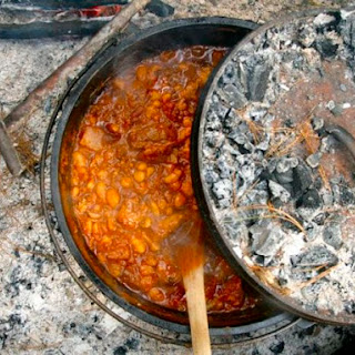 Campfire Chili in a Dutch Oven