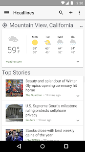 Google News & Weather - screenshot thumbnail