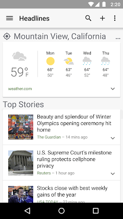 Google News & Weather 2.3 screenshot 2412