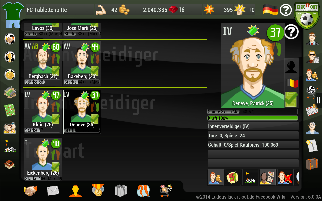 Kick it out! Football Manager - screenshot