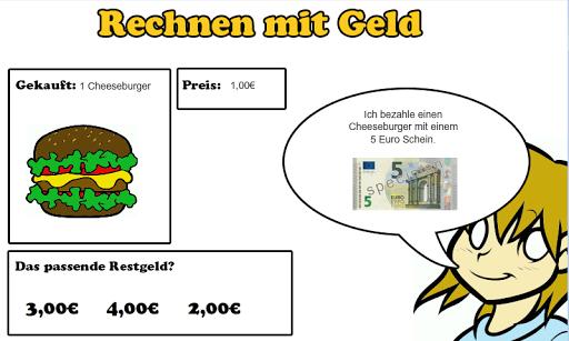 rechnen mit Geld Grundschule